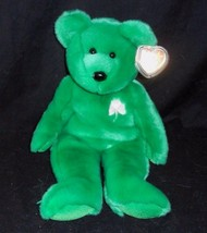 "13"" Large Ty B EAN Ie Buddies 1998 Erin Green Teddy Bear Stuffed Animal Plush Toy - $18.70"