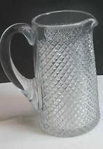 American Brilliant Period Cut Glass Pitcher strawberry diamond  Antique - $92.22