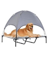 Elevated Cooling Dog Bed Cot with Canopy Shade Lightweight New Tent Port... - $58.43