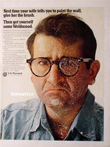 Rare 1968 U.S. Plywood Ad Pissed off painter husband Construction Advertisement - $4.99