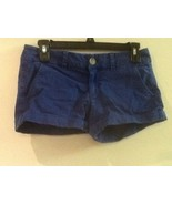 American Eagle Outfitters Womens Stretch Midi Chino Mid Rise Shorts Blue... - $13.95