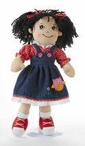 "Adorable Apple Dumplin' Cloth 14"" Doll by Delton - Denim Owl Jumper - $29.02"