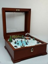 Mr Christmas Gold Label Collection Illuminated Music Box Skaters 30 Song... - $39.95