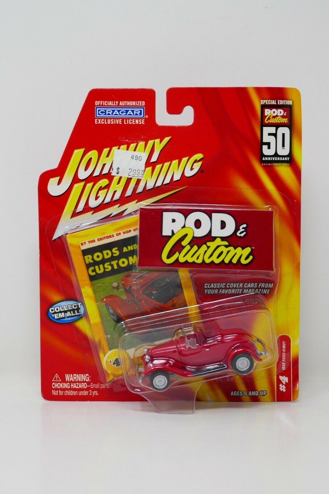 Johnny Lightning Rod & Custom 50th Anniversary 1932 Ford Hiboy Diecast Car #4 - $9.49