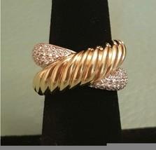 $5100 David yurman Solid 18k gold Diamond Large Crossover Ring - $1,382.50
