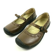 Keen Women's Walking Sandal Size 7.5 Leather Round To Shoes ANTI-ODOR Anotomic - $13.67
