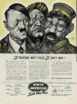 """Hitler, Mussolini, and Tojo - """"3 Reasons Why These 3 Can't Win! by Arthu... - $42.59"""