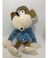 Bobby Jack brand monkey plush in blue tic tac toe pajamas pj 2010 stuffe... - $9.89