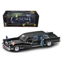 1972 Lincoln Continental Reagan Limousine Black 1/24 Diecast Model Car by Roa... - $86.92