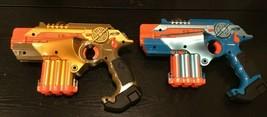Tiger Nerf Lazer Tag Phoenix LTX Tagger 2 pack Laser Tag Guns Gold & Blue - $58.75