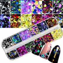 BAHYHAQ - Colorful Nail Art Tips Stickers 3D Laser Makeup Manicure DIY - $2.38