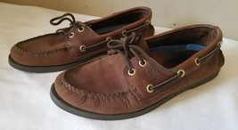 Sperry Top-Sider Boat Shoes Men Size 8 Brown Genuine Leather 0195412 2-Eye - $30.99