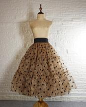 Pink Polka-Dot Puffy Tutu Skirt Outfit A-line Layered Plus Size Puffy Midi Skirt image 13