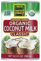 Native Forest Organic Classic Coconut Milk, 13.5 Ounce Cans Pack of 12,Packaging