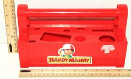 DISNEY HANDY MANNY RED PLASTIC TOY TOOL BOX HOLDS 8 TOOLS USED - MISSING... - $6.88