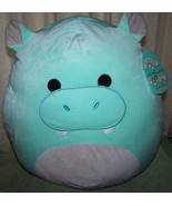 "Squishmallows HANK the Hippo 16""H Plush NWT - $30.88"