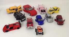 Die-cast Toy Large Lot 11pc Vehicles Cars Truck Pt Cruiser Taxi Cadillac... - $41.07 CAD