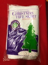 Sparkl-tex Tree Skirt With Multicolored Glitter 60 Inch Diameter By Buff... - $5.94