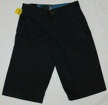 Volcom Frickin Pinstripe Boys Shorts Size 10 Slim Brand New - $26.00