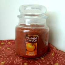 Yankee Candle SPICED PUMPKIN 14.5 oz Jar with Lid  burn time 65 - 75 hrs NEW - $18.42