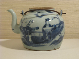 An Antique Chinese Qing Dynasty Blue & White Teapot - $79.00