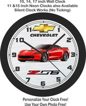 2018-2019 Chevrolet Corvette Z06 Wall Clock-Choose 1 of 5 Colors & Free ... - $27.71+