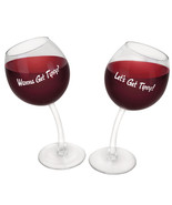 Let's Get Tipsy Two-Pack Wine Glasses Clear - $34.98