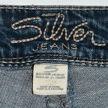 Silver Jeans Women's Suki Bootcut Embroidered Medium Blue Denim Size W32/L32 image 4
