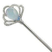 Classical Hair Stick Ginkgo Biloba Ladies Hair Stick Dish Hair Headwear(Blue)