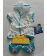 NEW Build A Bear Clothes Frozen Elsa & Anna Robe & Slippers NWT - $29.99