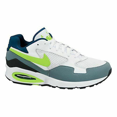 NIKE Air Max ST Men's Running Shoes 652976 102 White/Grey/Volt