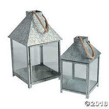 Galvanized Lantern Candle Holders - $43.74