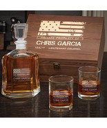 American Heroes Custom Argos Decanter Whiskey Gift Set with Eastham Glasses - $129.95