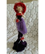 """Red Hat Ladies Society Porcelain Doll Figure 14""""  - $14.54"""