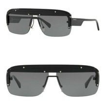 $400 Prada Modified Navigator Sunglasses Black Frame Gray Lens Made in I... - $208.25