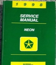 1998 DODGE MOPAR NEON Service Repair Shop Manual OEM 98 DEALERSHIP BOOK ... - $70.27