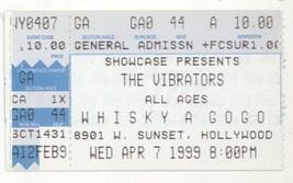 RARE The Vibrators 4/7/99 Los Angeles CA Whisky a GoGo Concert Ticket Stub! - $6.92