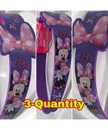 Lot of 3-Quantity Bow Sign, Disney Minnie Plastic Printed Wide Headband  - $9.90