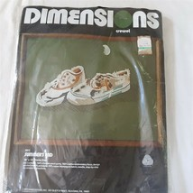 Vtg Dimensions Crewel Embroidery Kit Summer's End Sneakers 1977 - $34.15