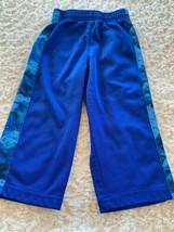 Healthtex Boys Blue Black Blocks Athletic Pants Elastic Waist 18 Months - $5.00