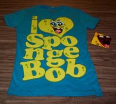 WOMEN'S TEEN  SPONGEBOB SQUAREPANTS Nickelodeon T-shirt SMALL NEW Nickel... - $19.80