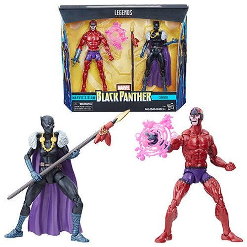 Black Panther Marvel Legends Shuri and Klaw 6-Inch Action Figures, Hasbro