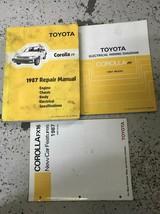 1987 Toyota Corolla Ff Servizio Riparazione Negozio Manuale OEM Set W Ew... - $50.21