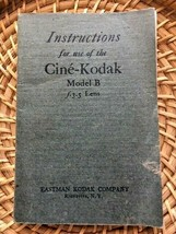 Kodak Cine-Kodak Model B F3.5 Instruction Manual 1927 Original Booklet - $5.00