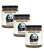 Brownwood Acres Barbeque Mustard - 3 PACK - Shipping Included - $27.95