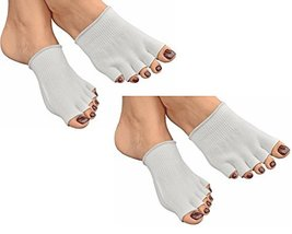 Bcurb Toe Gel Socks Moisturizes Skin Gel Lined Toes Separating Therapeut... - £17.89 GBP