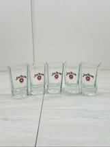 "Vintage Jim Beam 5pc Set Shot Glasses Almost 3"" tall - $23.50"