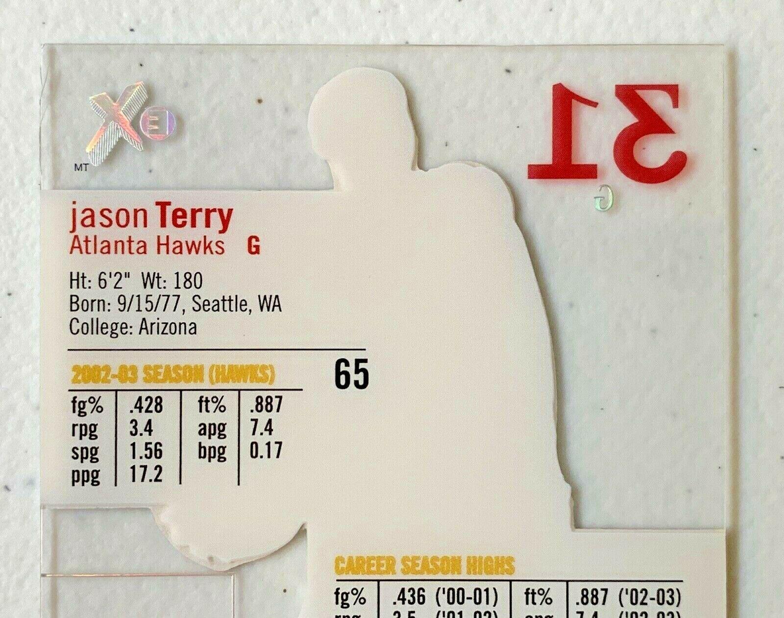 Jason Terry Now/66 #65 Atlanta Hawks Fleer Basketball Card with Hard Case 31G image 8