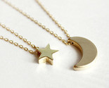 Layered of 2 set moon star pendent women statement simple moon necklace xl139 20 thumb155 crop