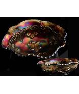 Purple carnival petite Bowl - seamed glass - amethyst glass - Trinket di... - $60.00